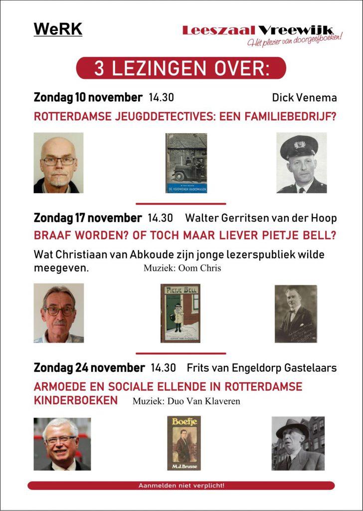 Leeszaal Vreewijk WeRK 3 lezingen